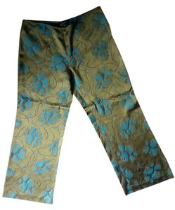 Jean-Paul Gaultier Vintage Funky Silk Jean Paul Gaultier Wide Leg Pants Green