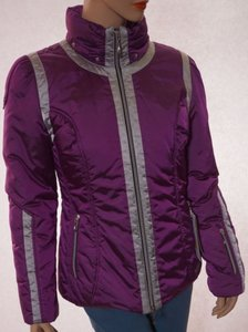 Mdc Womens Grey Lined Purple Jacket