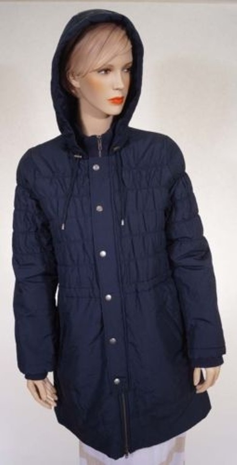 a5facf3b5f4 Joie P90-4496 Arlington Womens Navy Silk Lined Hooded Puffer Jacket Coat