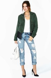 BB Dakota Collective Womens Army Green Jacket