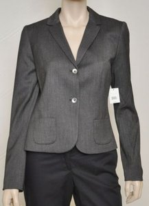Tahari Tahari Mirabella Womens Black Grey Lined Padded Suit Blazer Jacket-10