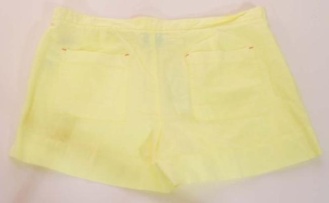 C&C California Womens Sunshine Linen Utility Pocket Shorts Yellow