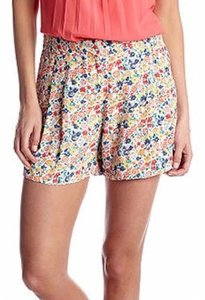French Connection 792d1 Womens Pink Floral Marilyn Draped Mini Tie Shorts Multi-Color