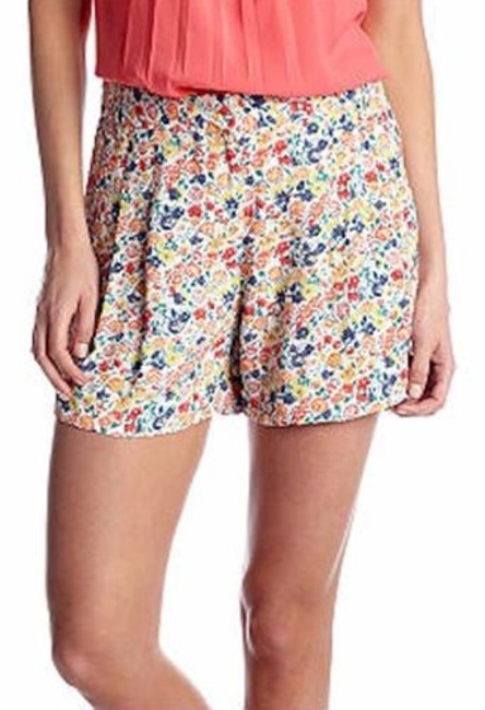 Preload https://item1.tradesy.com/images/french-connection-792d1-womens-pink-floral-marilyn-draped-mini-tie-shorts-4111090-0-0.jpg?width=400&height=650