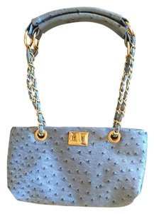 Other Chains Ostrich Mini Turn Lock Shoulder Bag