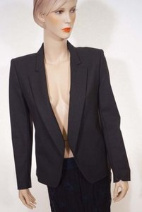 Theory Theyskens Theory Jutah Womens Grey Charcoal Wool Silk Cropped Blazer Jacket
