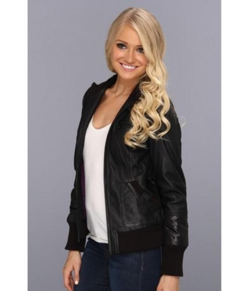 5f2f7c578 Marc York By Andrew Marc Womens Nicki Quilted Bomber Black Leather Jacket