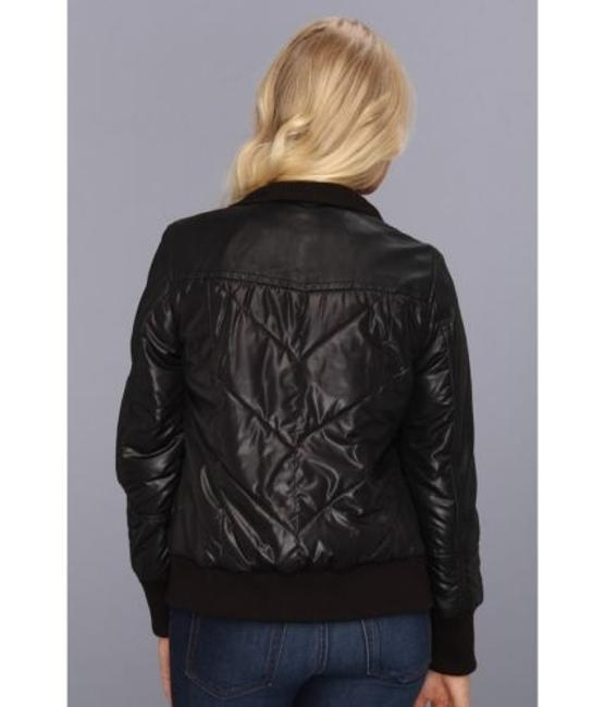 Marc New York By Andrew Womens Nicki Quilted Bomber Leather Black Jacket