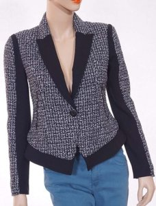 Kenneth Cole Womens Lined One Button Cropped Brooklyn Black Jacket