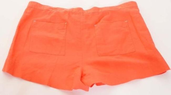 C&C California Womens Geranium Linen Utility Pocket Shorts Orange