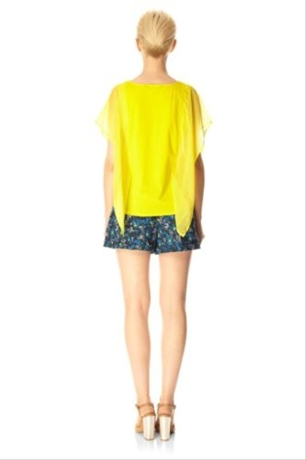 French Connection Womens Balm Thorn Floral Electric Meadow Mini Shorts Blue