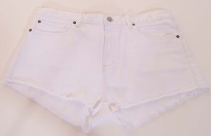 Denim & Supply Ralph Lauren Womens Stretch Vintage Cut Off Shorts White