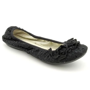 Other R2 By Report Gavan Womens Fabric Ballet Black Flats