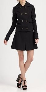 Rachel Zoe Mylan Women Wool Lined Mini Short Skirt Black