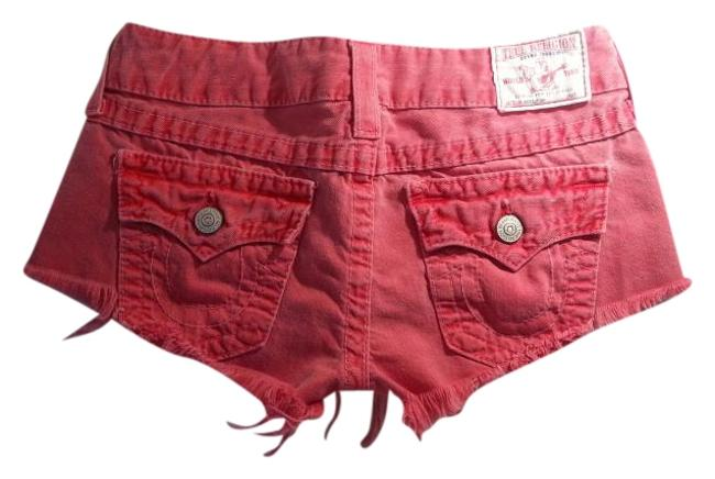 Item - Coral Distressed Joey Cut Off Denim Shorts Size 27 (4, S)