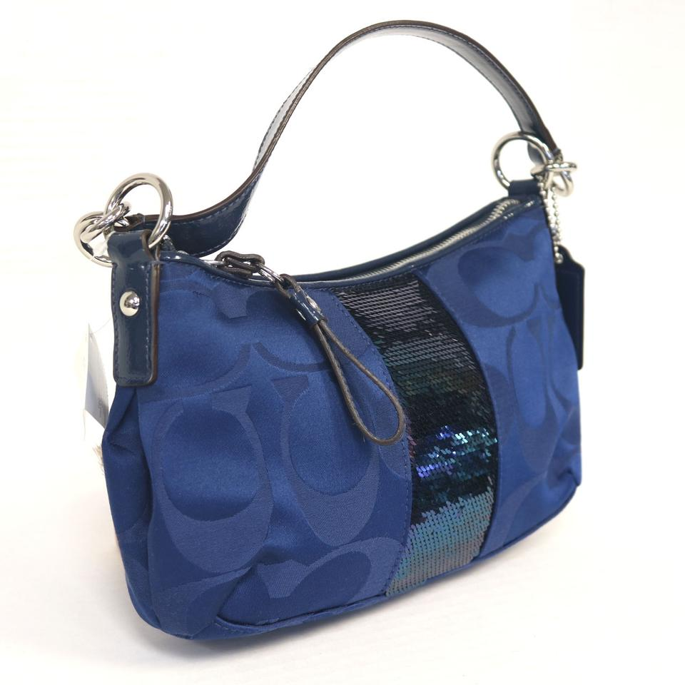 coach-travel-cc-mk-key-lock-summer-cross-body-bag-blue ...