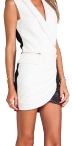 self-portrait short dress White With Black Skirt on Tradesy