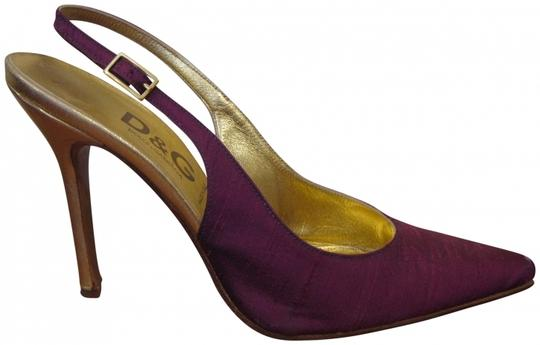 Preload https://item4.tradesy.com/images/dolce-and-gabbana-purple-and-gold-d-and-g-slingbacks-four-inch-heel-pumps-size-us-7-regular-m-b-411238-0-0.jpg?width=440&height=440