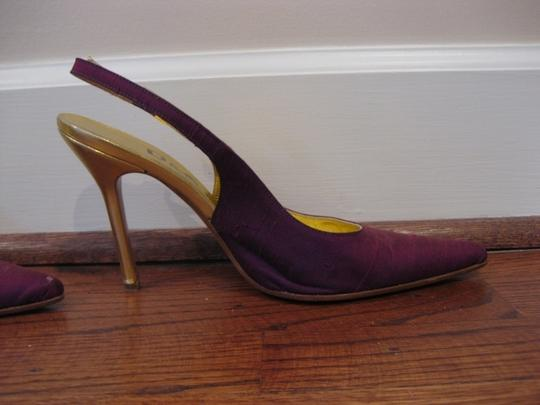 Dolce&Gabbana purple and gold Pumps