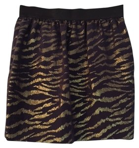 3.1 Phillip Lim Metallic Exclusive Mini Skirt black and gold