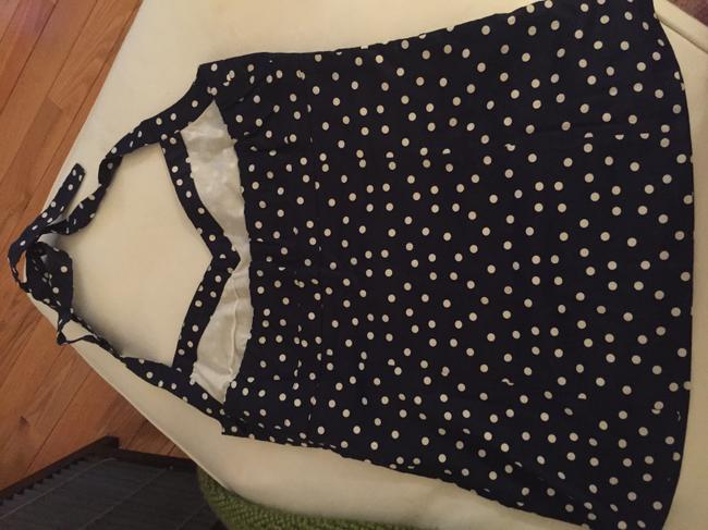 J.Crew Navy with white polka dots Halter Top