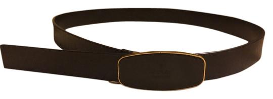 Gucci Gucci belt black leather and brass hardware