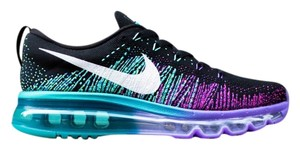 Nike Nike Women's Air Max Flyknit 2014 BRAND NEW IN BOX - Black, Venom Purple, Green - Size 7 Athletic Shoes
