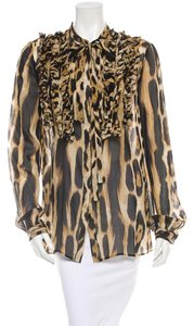Just Cavalli Top Brown Black