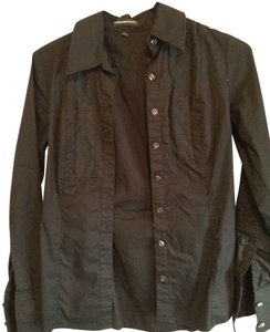 Express Business Wear Button Down Shirt Black