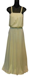 Light Yellow Maxi Dress by Other Tall Length Maxi Vintage 1970s
