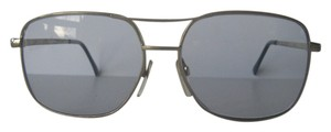 Empire Empire Silver Metal Large Aviator Sunglasses Real Blue Glass Lens Vintage Rare