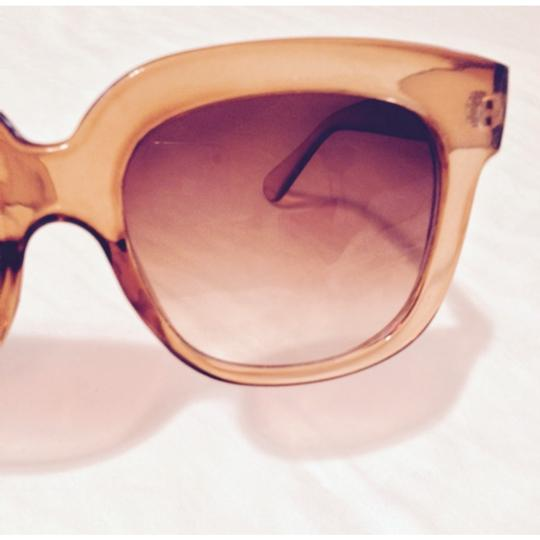 Other Coral Lucite Retro Sunglasses and Gradient lenses