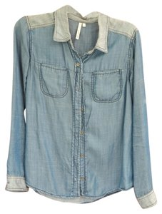 Michael Stars Button Down Shirt Denim