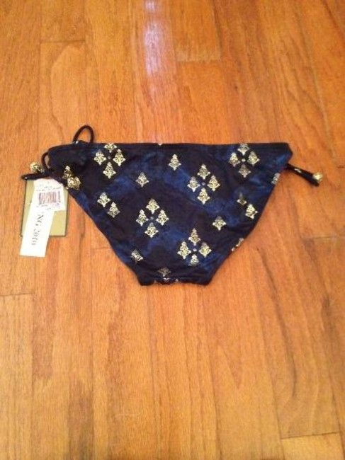 Juicy Couture Juicy Couture Royal Blue & Gold Swimsuit Bikini Bottom L
