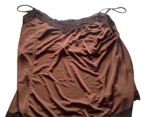 The Limited Lace Detail A Keep Piece. Hard To Find Satin Feel Top Brown