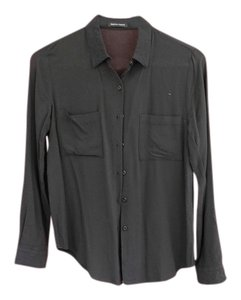American Apparel Button Down Shirt Black