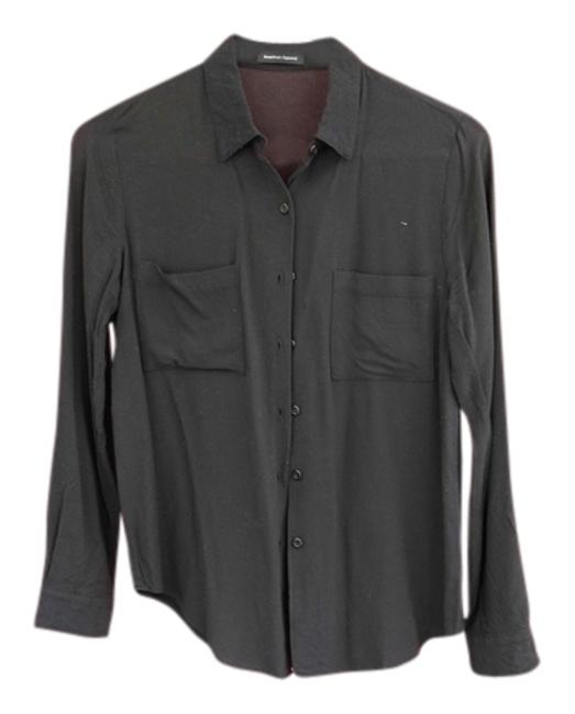 Preload https://item5.tradesy.com/images/american-apparel-black-button-down-top-size-2-xs-4114594-0-0.jpg?width=400&height=650