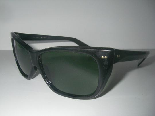 Foster Grant Original USA Foster Grant Sunglasses Thick Black Plastic Frame Green Lens True Vintage 1960s 1970s