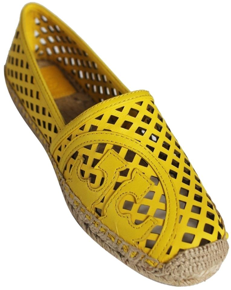 0d95e80201b Tory Burch Banana Yellow 730 In Box Thatched Perforated Leather ...