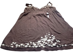 Banana Republic short dress Chocolate brown with white trim Br Brand New Tags on Tradesy