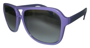 Mirror Amber Lens Sunglasses Purple Plastic Frame Korea