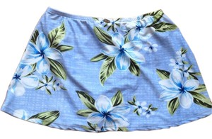 Sunset Separates Sunset Separates Women's Blue Floral Swimsuit Skirt Bottom Cover Up XS