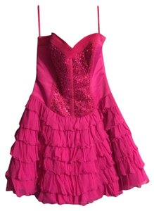 Betsey Johnson Strapless Corset Sequin Dress