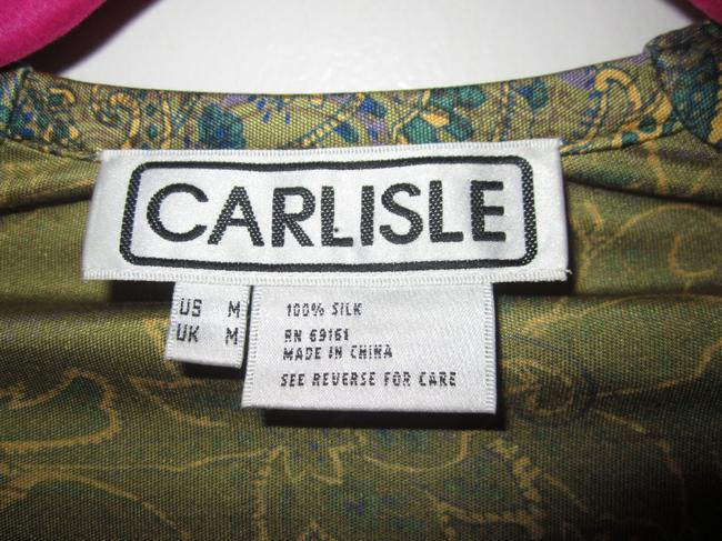 Carlisle Top Green Brown Purple