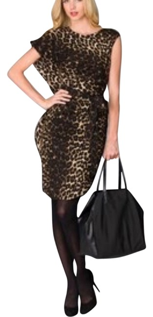 Lafayette 148 New York Animal Print Cocktail Dress