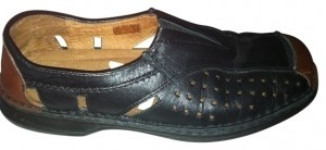 Josef Seibel Black with brown Flats