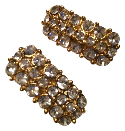 Preload https://item2.tradesy.com/images/gold-tone-with-clear-rhinestones-clip-on-earrings-4116316-0-0.jpg?width=440&height=440