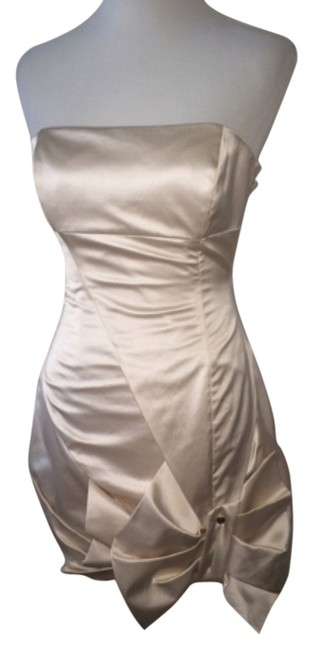 Item - Cream Just Reduced Short Formal Dress Size 6 (S)