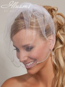 Illusions Bridal Birdcage With Beads Edge