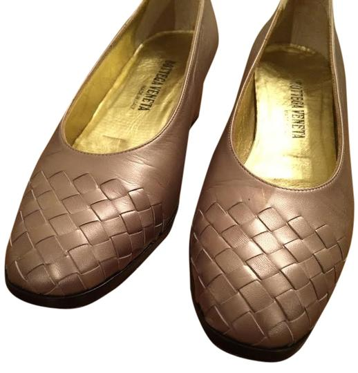 Bottega Veneta Made In Italy Silver/Beige/Metallic Pumps